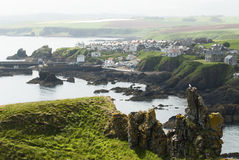 St Abbs, Scotland. View over the St Abbs village in East Scotland Stock Photo