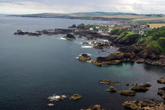 St. Abbs in Scotland (coastal scene) Stock Photos