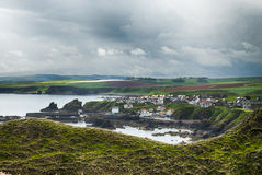 St Abbs, Scotland. View over the St Abbs village in East Scotland Royalty Free Stock Photography