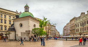 St Adalbert教会在克拉科夫,波兰 免版税库存图片