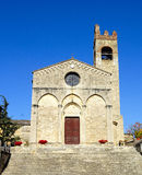 St. Agata Basilica. Romanesque Basilica of St. Agata in Asciano, Tuscany, Italy Stock Photo