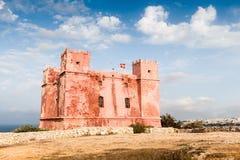 St Agatha wierza był rycerza początkowym fortecą w wes Obrazy Royalty Free