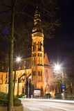 St Agathakerk na noite, Lisse Fotografia de Stock