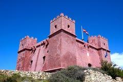 St Agathas fort przy Mellieha, Malta Fotografia Royalty Free