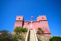 St Agathas fort przy Mellieha, Malta Obrazy Royalty Free