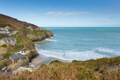St Agnes baai Noord-Cornwall Engeland het UK Royalty-vrije Stock Foto's
