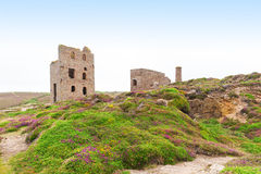 St Agnes and Chapel Porth Atlantic ocean, Cornwall Royalty Free Stock Image