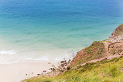 St Agnes and Chapel Porth Atlantic ocean, Cornwall Royalty Free Stock Photography