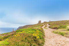 St Agnes and Chapel Porth Atlantic ocean, Cornwall Stock Photos