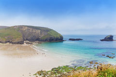 St Agnes and Chapel Porth Atlantic ocean, Cornwall Stock Image