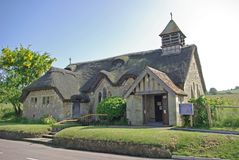 St Agnes Church. (The Thatched Church) Freshwater Isle of Wight England stock photos