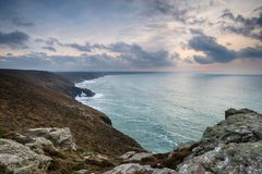 St Agnes głowa w Cornwall Obrazy Royalty Free