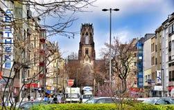 St Agnes jest neogothic kościół katolickim w Neustadt-Nord, Kolonia, Niemcy Fotografia Stock