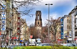 St. Agnes is a neogothic Catholic church in Neustadt-Nord, Cologne, Germany Stock Photography