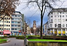 St. Agnes is a neogothic Catholic church in Neustadt-Nord, Cologne, Germany Royalty Free Stock Photo