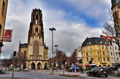 St. Agnes is a neogothic Catholic church in Neustadt-Nord, Cologne, Germany Stock Images