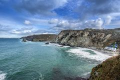St Agnes in Cornwall stock images