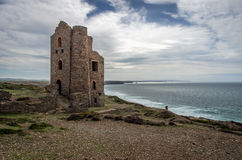 St Agnes Wheal coates industrial tin mine Royalty Free Stock Photo