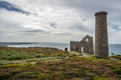 St Agnes Wheal coates industrial tin mine Stock Photography