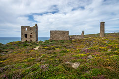 St Agnes Wheal coates industrial tin mine Royalty Free Stock Image