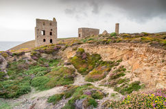 St Agnes Wheal coates industrial tin mine Stock Photo