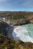 St Agnes zatoczka Północny Cornwall Anglia UK Obrazy Stock