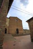 St. Agostino Church - San Gimignano Italy Royalty Free Stock Images