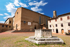 St. Agostino Church - San Gimignano Italy Royalty Free Stock Image