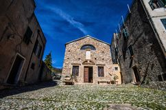 St.Agostino Church in Verezzi, Savona province, Italy. St.Agostino Church in Verezzi, Savona province, Italy, Europe Royalty Free Stock Photography