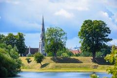 St Alban ` s Kerk, Kopenhagen Denemarken stock afbeelding