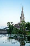 St Alban& x27; iglesia de s Imagen de archivo libre de regalías