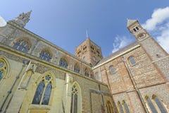 St Albans修道院外部 库存照片