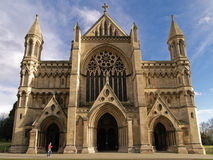 St Albans Abbey Cathedral. Norman Abbey Cathedral in St Albans Royalty Free Stock Photo