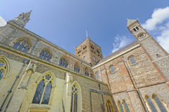 St Albans Abbey exterior Stock Photos