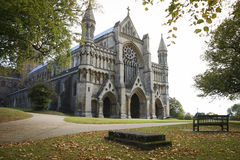 St albans cathedral hertfordshire england autumn Royalty Free Stock Images