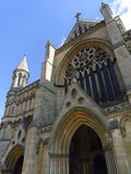 St Albans Cathedral in Hertfordshire, England. The Cathedral at St Albans, in Hertfordshire, dating back to Normal times stock image
