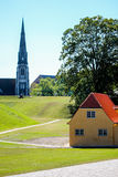St Albans Church in Copenhagen. A view of Copenhange with the St. Alban's Church in the frame Stock Photo