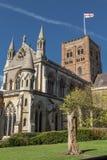 St Albans Kathedraal in het UK Stock Afbeelding