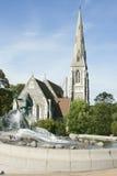 St. Albans kerk Stock Afbeeldingen