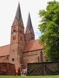 St alemán Trinitatis de Klosterkirche de la abadía de la iglesia de la piedra del ladrillo Imágenes de archivo libres de regalías