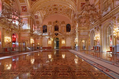St. Alexander hall. Russia, Moscow, Grand Kremlin Palace - historical old building built from 1837 to 1849, at the present time the ceremonial residence of the stock image