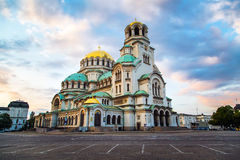 St Alexander Nevski Cathedral i Sofia, Bulgarien Arkivbilder