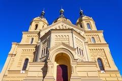 St Alexander Nevskiy kerk royalty-vrije stock foto's