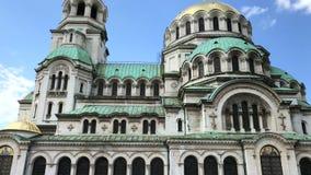 St Alexander Nevsky Cathedral stock video