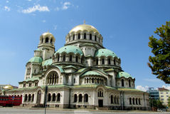 The St. Alexander Nevsky Cathedral of Bulgarian Orthodox church in Sofia Royalty Free Stock Images