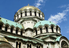 The St. Alexander Nevsky Cathedral of Bulgarian Orthodox church in Sofia Royalty Free Stock Photography