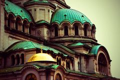 Close up from Alexander Nevsky Cathedral, Sofia royalty free stock photography