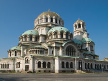 The St. Alexander Nevsky Cathedral in Sofia Royalty Free Stock Photography