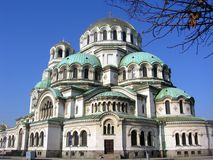 St. Alexander Nevsky Cathedral in Sofia, Bulgaria royalty free stock image