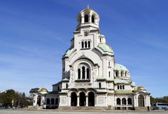 St. Alexander Nevsky cathedral in Sofia Stock Photos